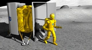 Illustration for article titled NASA may send robotic astronauts to the Moon...and soon!