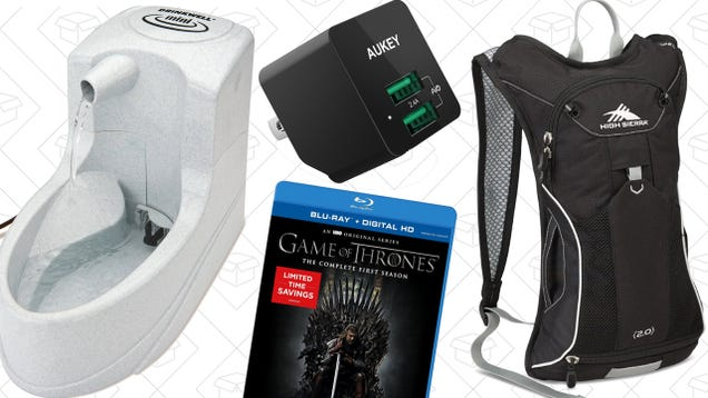 Today's Best Deals: Automated Pet Feeding, High Sierra Everything, Game of Thrones