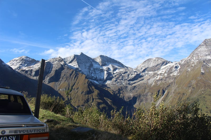 The view from the foot of the Großglockner, including a bit of 505