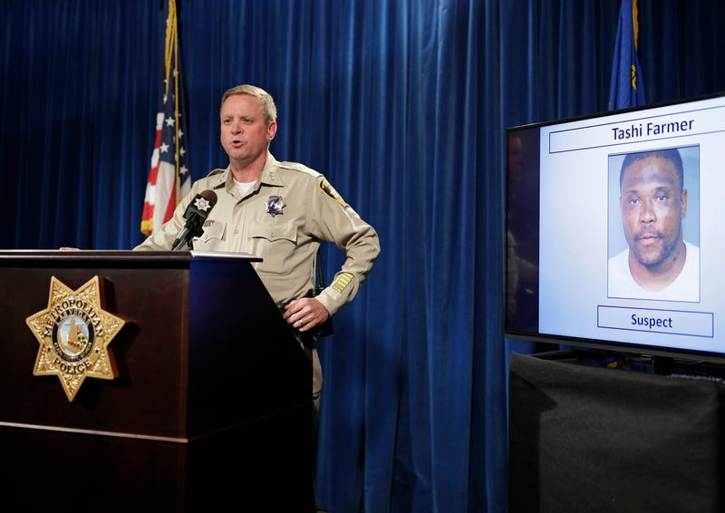 In this May 17, 2017, file photo, Las Vegas Police Undersheriff Kevin McMahill speaks during a news conference in Las Vegas. Police officers can no longer routinely use neck restraints to render combative people unconscious, but can still use the department-approved technique in a life-or-death struggle. (John Locher/AP Images)