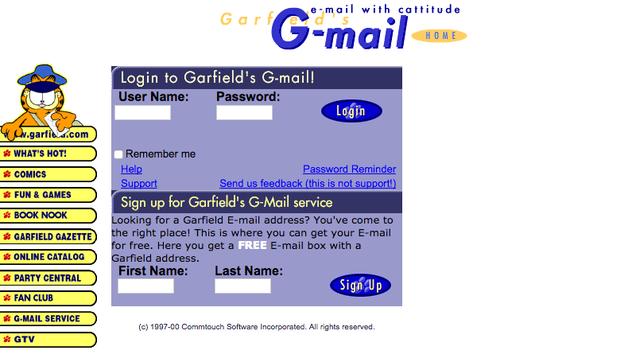 The Original Gmail Was Garfield Mail