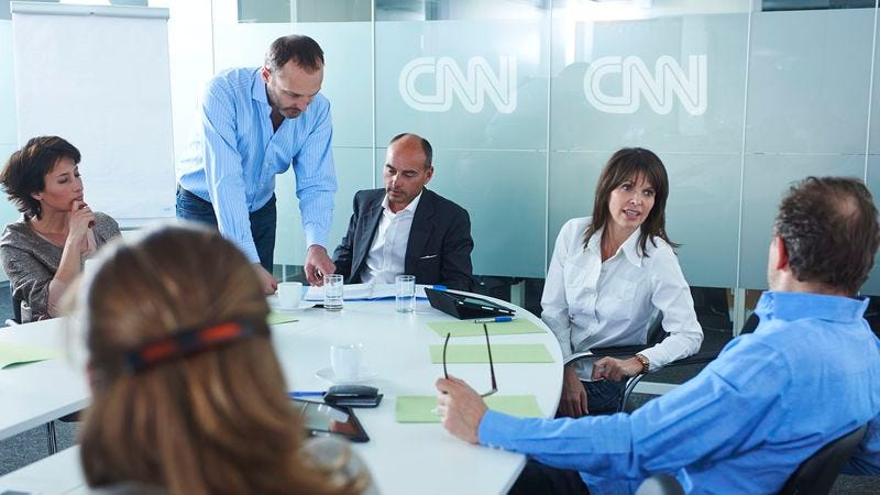 Illustration for article titled CNN Holds Morning Meeting To Decide What Viewers Should Panic About For Rest Of Day