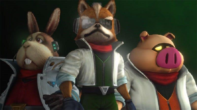 Star Fox and crew. Via Nintendo