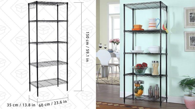 Langria 5-Tier Metal Shelf, $43 with code INDE10OF