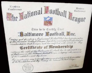 Illustration for article titled Original Baltimore Colts Charter Found In Garbage, Refurbished