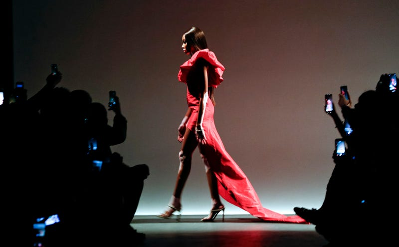 Model Winnie Harlow walks the runway during the Laquan Smith Fashion Show during New York Fashion Week: The Shows at Pier 59 on September 9, 2018 in New York City.