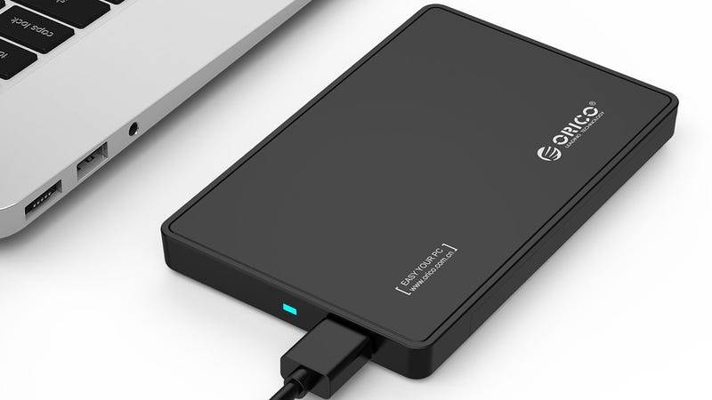 "Orico 2.5"" SSD Enclosure, $8 with code CXZGWO3I"