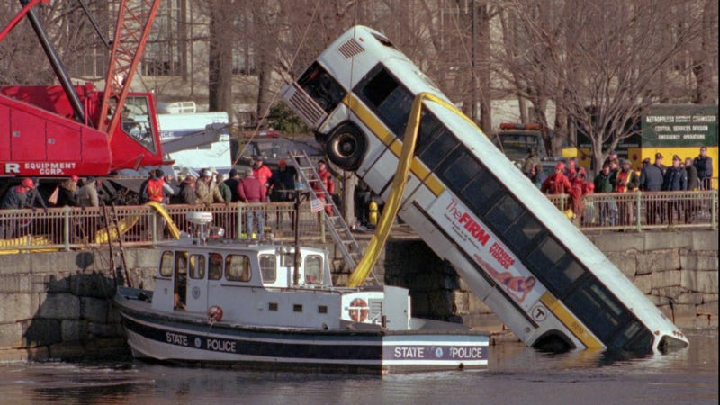 Illustration for article titled Why Buses Always Plunge But Never Fall, Drop, Descend Or Plummet