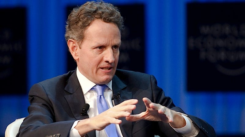 Illustration for article titled Timothy Geithner Insists Mitt Romney Is a Stupidface