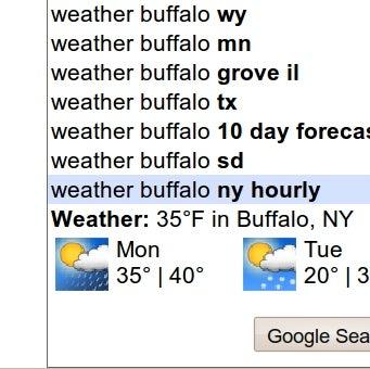 Illustration for article titled Google Auto-Suggest Offers Quick-Glance Weather, Flight Data, and More