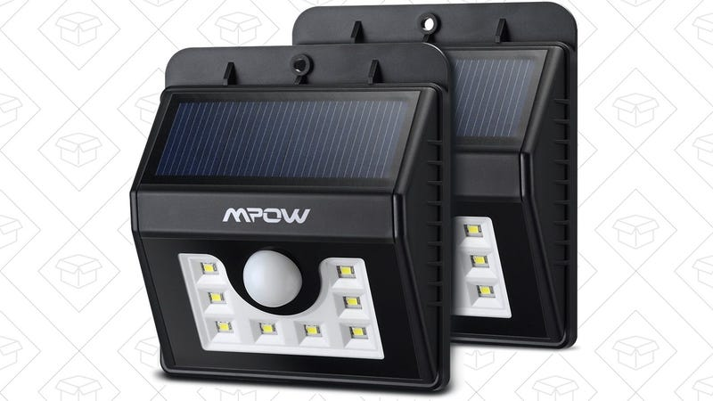 2-Pack Mpow Solar LED Motion Sensing Lights | $17 | Amazon | Promo code DM6C74VS