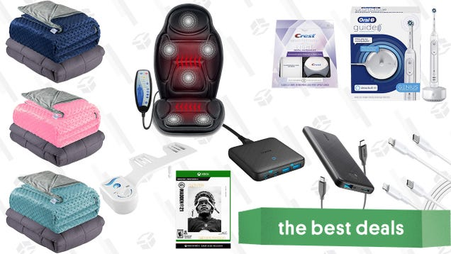 Sunday s Best Deals: Oral-B Guide Smart Toothbrush, Anker Charging Accessories, Weighted Blankets, Madden NFL 21 MVP Edition Code, Bidet Attachment, Heated Massage Car Seat Cover, and More