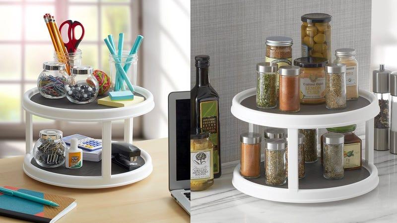 Copco 2555-0187 Non-Skid 2-Tier Pantry Cabinet Lazy Susan Turntable | $12 | Amazon