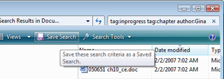 Illustration for article titled Tag files and save searches in Windows Vista