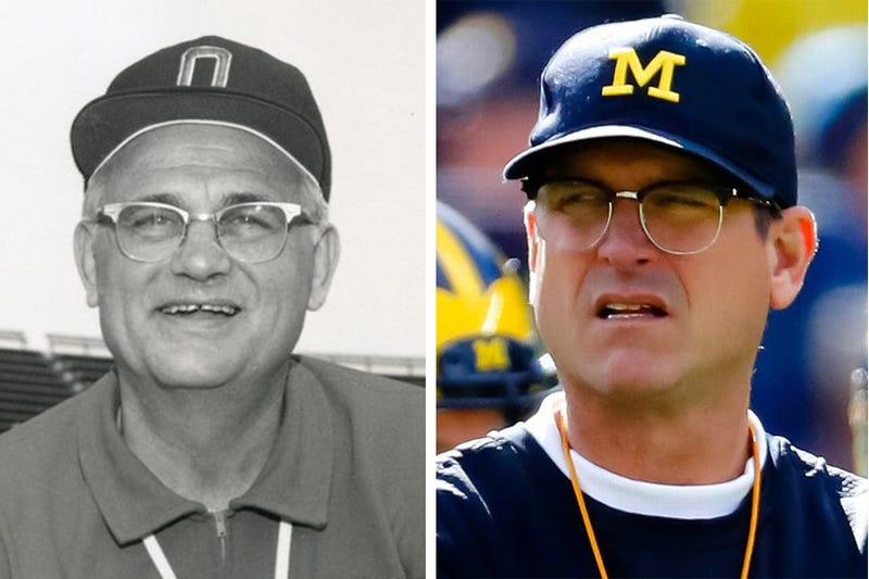 Illustration for article titled Is Jim Harbaugh becoming Woody Hayes?