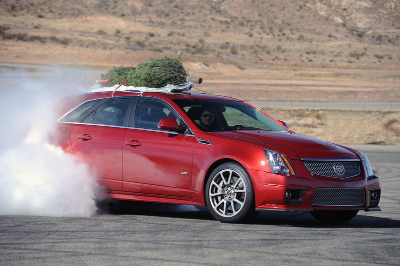 Illustration for article titled Cadillac CTS-V Sport Wagon Hauls Ass, Christmas Trees
