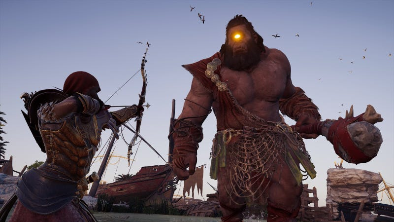 Illustration for article titled Assassin's Creed Odyssey's New Cyclops Boss Is A Letdown