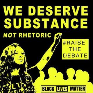 Debate-request flierBlack Lives Matter