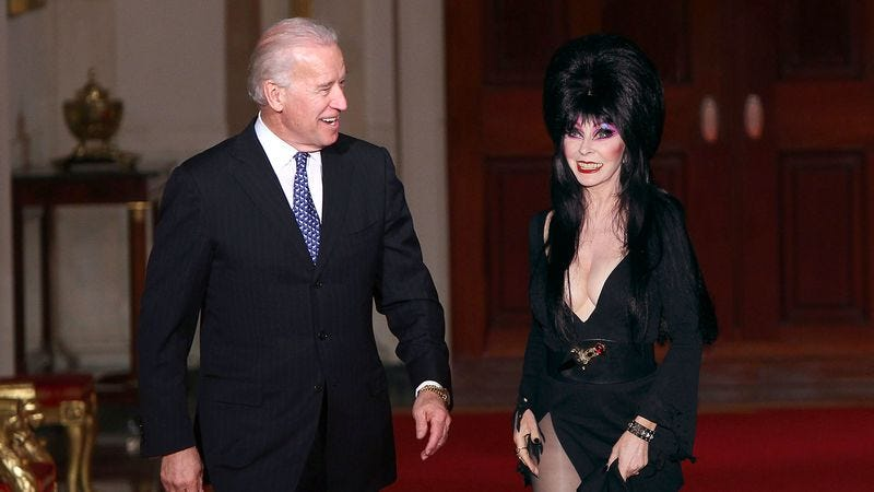 Vice President Joe Biden offers to give Elvira a personal tour of the Lincoln Bedroom that she'll never forget.
