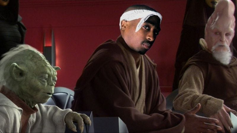 Illustration for article titled Tupac Shakur allegedly auditioned to be a Jedi in Star Wars: Episode I