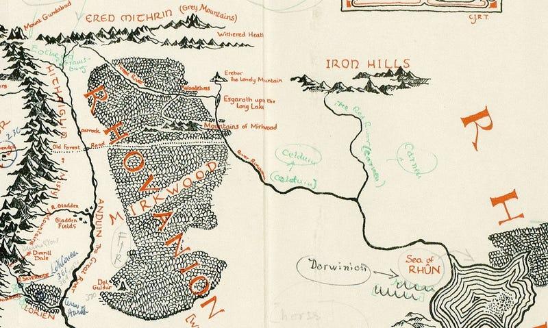 Illustration for article titled Descubren unas anotaciones de JRR Tolkien con los lugares que inspiraron la Tierra Media