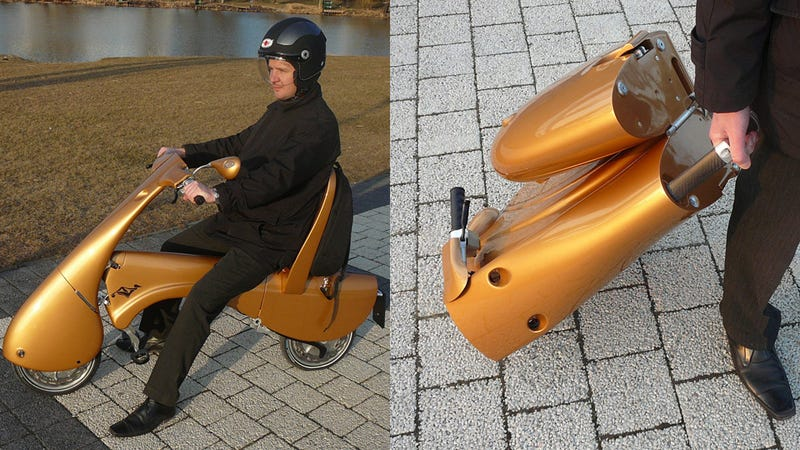 Illustration for article titled ¿Los scooters del futuro? Ligeros, eléctricos y plegables