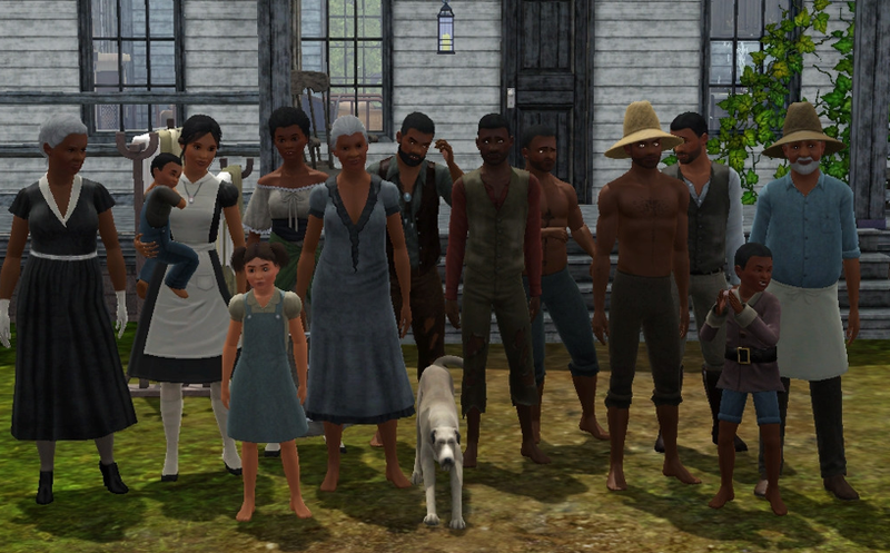 Illustration for article titled Man Watches Django Unchained, Recreates Plantation With Slaves in The Sims 3 [UPDATE]