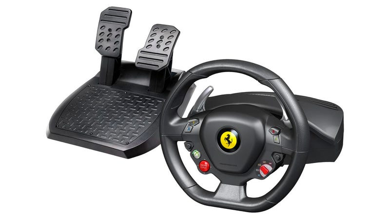 Illustration for article titled Ferrari 458 Italia steering wheel for XBox is a knob-fest