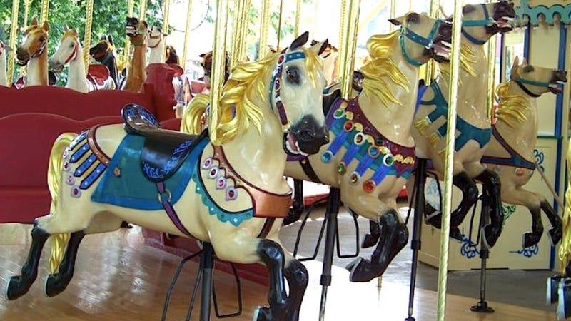 Illustration for article titled When carousel rides were for adults trying to get a little risqué