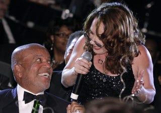 Teena Marie serenades Motown founder Berry Gordy.