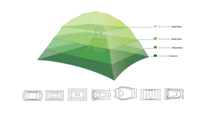 Illustration for article titled A New Method For Measuring Tent Space