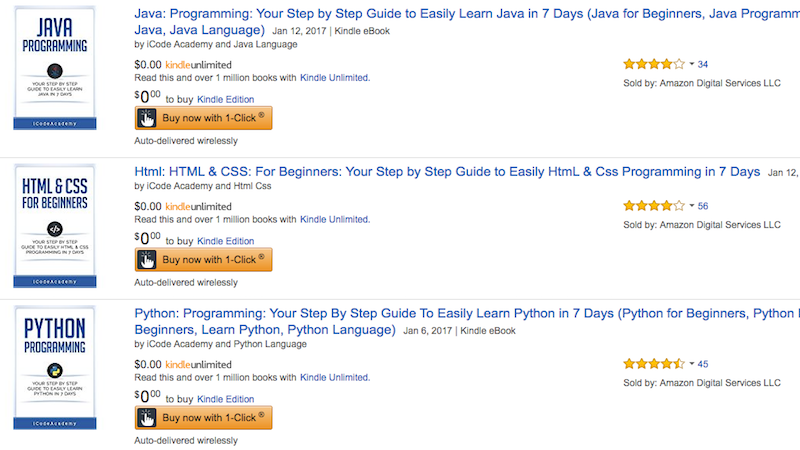 Snag Three Free Programming Guides for HTML, Python, and Java for Your Kindle Right Now