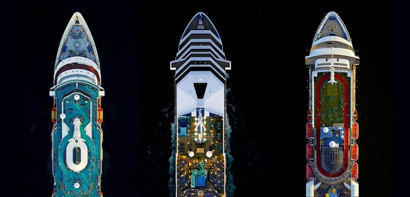 Illustration for article titled These Mega-Cruise Ships Look Like SmallCitiesFrom the Air