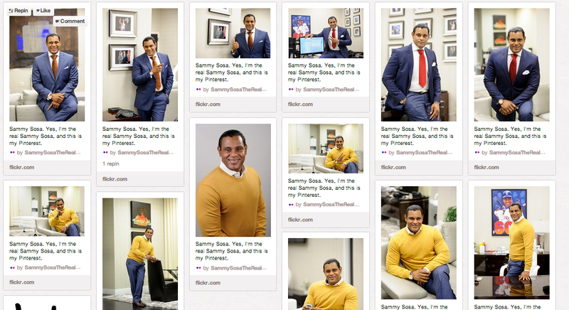 Illustration for article titled Sammy Sosa Has The Best Pinterest Page Ever