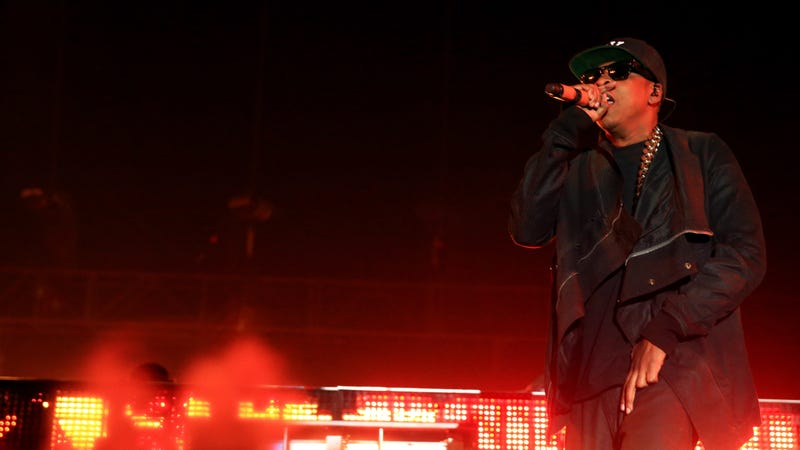 Rapper Jay Z performs onstage during day 2 of the 2014 Coachella Valley Music & Arts Festival on April 12, 2014 in Indio, California.