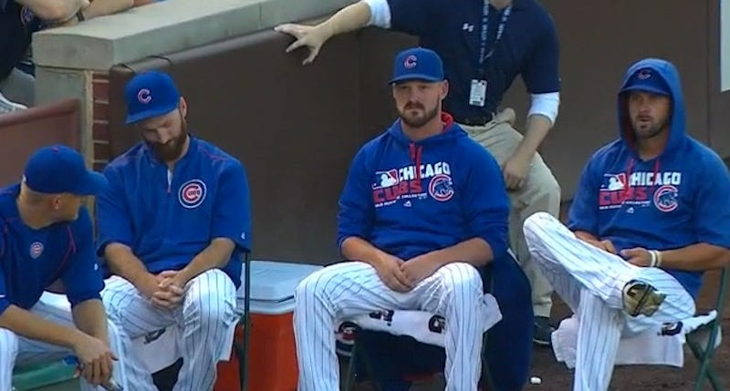 Illustration for article titled Cubs Bullpen Confronts Fear, Spits In Its Eye