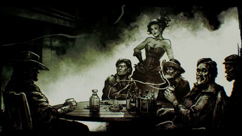 The narrator of Call Of Juarez: Gunslinger regales his fellow barflies with a tall tale