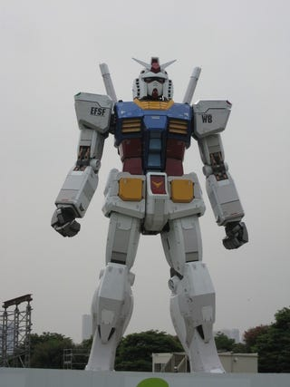 Illustration for article titled Tokyo's Life-Sized Gundam is Just About Finished