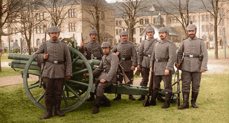 Illustration for article titled La Primera Guerra Mundial parece más cercana en fotos coloreadas