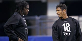 Robert Griffin III and Russell Wilson (Joe Robbins/Getty Images Sport)
