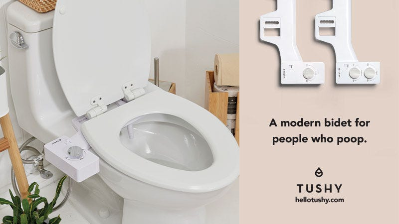 Illustration for article titled Keep It Clean & Upgrade Your Toilet With A Sleek Bidet From Tushy (Up To 25% Off)