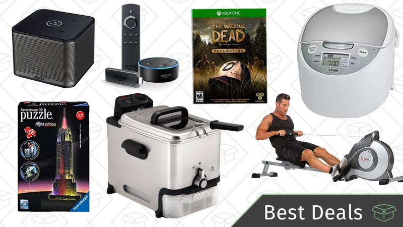 Illustration for article titled Wednesday's Best Deals: Multi-Room Speakers, Puzzle Gold Box, Fitness Equipment, and More