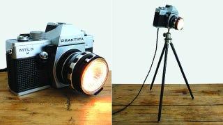 Illustration for article titled Severe Cold War Cameras Make Funky Modern Lamps