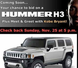 Illustration for article titled Kobe Announces His Hummer Auction to Middle Schoolers