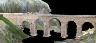Illustration for article titled Laser and Radar Let Researchers Peer Deep Inside Ancient Roman Bridges