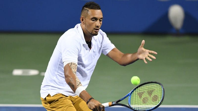Illustration for article titled True Weirdo Nick Kyrgios Serves Match-Winning Ace After Consulting A Fan