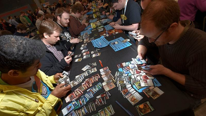 Players assemble their decks at the Magic: The Gathering Grand Prix Utrecht. Photo: Wizards Of The Coast.