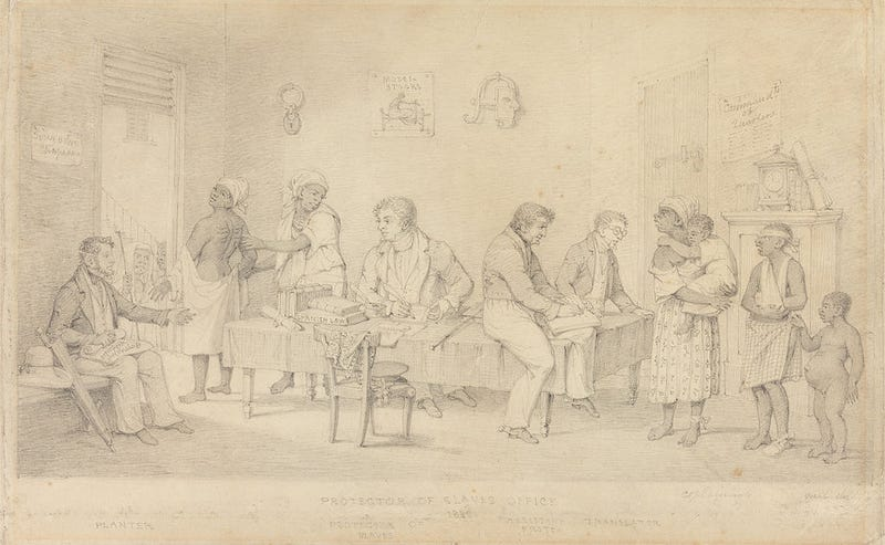 Protector of Slaves Office (Trinidad), by Richard Bridgens, circa 1833, Yale Center for British ArtWikimedia