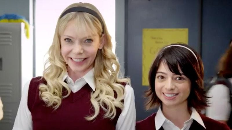 """Illustration for article titled Watch Garfunkel And Oates reach fifth base in the new video for """"The Loophole"""""""