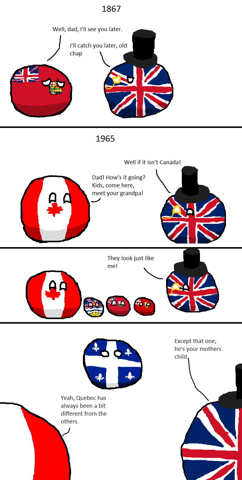Illustration for article titled Daily Polandball: Britain Visits His Grandchildren.
